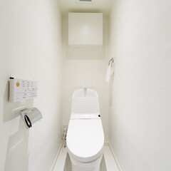 ウォシュレット/トイレ ウォシュレット付のトイレ。収納もシンプル…
