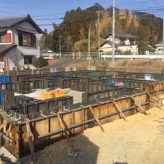 建築 基礎工事、始まりました!