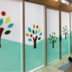 保育園/窓/フィルム/プライバシー 本日は、保育園の窓ガラスのフィルム張りで…