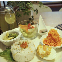 イッタラ ティーマ プレート 26cm ホワイト | イッタラ(皿)を使ったクチコミ「ワンプレートご飯に活躍するのがティーマン…」