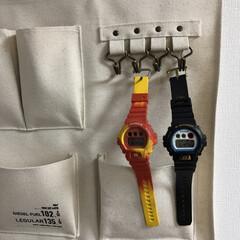 引っ掛け収納/gショック/暮らし/収納/腕時計/腕時計収納 腕時計収納⌚️ 日頃よく使う腕時計は引き…