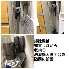 ダイソン コードレスクリーナー dyson V6 SV07ENT | ダイソン(掃除機)を使ったクチコミ「ダイソンのスティッククリーナーは、洗面所…」