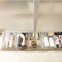 テスコム 毛玉クリーナー KD901-W ホワイト(その他アイロン)を使ったクチコミ「リビング棚の引き出し収納その2👌 ここに…」