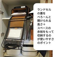 ランドセル収納/学用品収納/やわらかポリエチレンケース/収納/雑貨/100均 ランドセル収納のポイント。子供が準備をす…