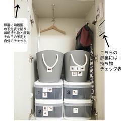 バルコロール マルチバスケットM 19L カフェオレ balcolore 八幡化成 2個以上で | 八幡化成(かご、バスケット)を使ったクチコミ「リビング棚収納のポイント 扉付き収納棚の…」