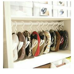 タイガース消しゴム(消しゴム)を使ったクチコミ「ローヒールの靴はシューズハンガーで収納し…」