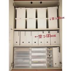 JEJ ファイルケーススリム ホワイト(マガジンラック)を使ったクチコミ「リビング棚収納、書類収納や日用品収納でそ…」