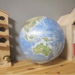 のアースボール(地球儀)を使ったクチコミ「子供達がアプリを使って遊びながら国の名前…」