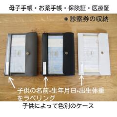 ハイタイド ジェネラルパーパスケース A6 ネーエ DF083−IV アイボリー 東急ハンズ | HIGHTIDE(その他ファイル)を使ったクチコミ「こどもたちの母子手帳+お薬手帳ケースに使…」