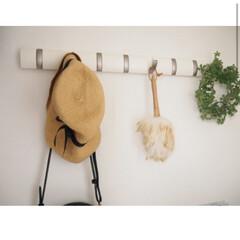 インテリア/フック/アンブラ/収納/暮らし/DIY 廊下に取り付けたアンブラのフック🥰👏🏻 …