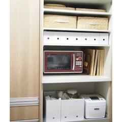 ジャー炊飯器 備長炭 炭炊釜 NJ-VEA10-W(炊飯器)を使ったクチコミ「キッチン背面収納は主に無印良品のファイル…」