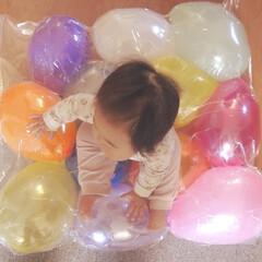 育児/お部屋遊び/風船遊び/風船/キャンドゥ/ダイソー/... お部屋遊びが続く中、おもしろいバルーン遊…