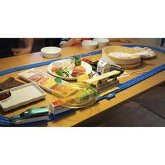 ダイニング/献立/回転寿司/プラレール/イベント/お祝い お祝いごとのとき、プラレール回転寿司を開…