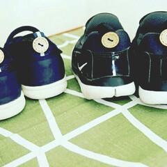 アイデア/名前付け/雑貨/暮らし/100均 子供の靴への名前つけ、直接書かなくても大…