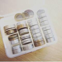 収納アイデア/小銭/コインカウンター/コインケース/収納/暮らし 一家にひとつ、コインカウンターなどにご銭…
