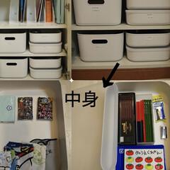 くもんの日本地図パズル PN-32(その他おもちゃ)を使ったクチコミ「学用品収納の中身はこんな感じです☺️無印…」