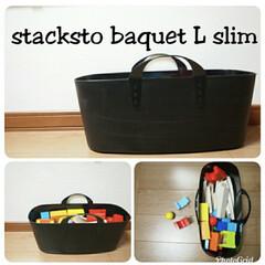 収納ボックス baquet L slim アイボリー 10L(その他キッチン、日用品、文具)を使ったクチコミ「お気に入りの収納ボックス、スタックストー…」(1枚目)