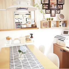 ルイスポールセン PH5ペンダントライト / クラシック・ホワイト(その他キッチン、台所用品)を使ったクチコミ「食卓にアジサイを😊 花が一輪あるだけでぱ…」(1枚目)