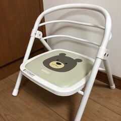 ベビーチェア カトージ イス 椅子 赤ちゃん 子供 折りたたみパイプイス くまのウェルト 19900(ベビーラック、チェア)を使ったクチコミ「折りたたみ出来るカトージの豆イス😊 使わ…」