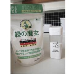 緑の魔女 オートキッチン | 緑の魔女(食洗器用洗剤)を使ったクチコミ「お気に入りの魔女シリーズの食洗機の洗剤で…」