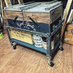 アトリエ/ツールボックス/端材/DIY/収納 端材で作った二段ツールボックスとローワゴ…(1枚目)