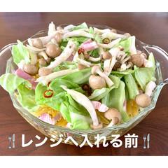 レンジ調理/レンチン/春野菜/ペペロンチーノ/パスタ/おうちごはん/... 🍴ベーコンと春野菜のペペロンチーノ🍴  …(2枚目)