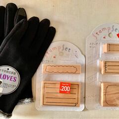 スタンプ/手袋/3COINS/スリコ/雑貨 約4ヶ月ぶり🤣くらいのスリコ😆  ¥30…