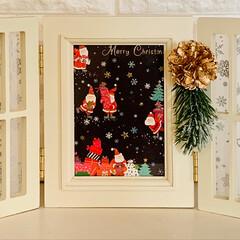 簡単アレンジ/ナチュラルキッチン/ワックスペーパー/フォトフレーム/クリスマス2019/リミアの冬暮らし/... 友人からかわいいクリスマスカードが届いた…