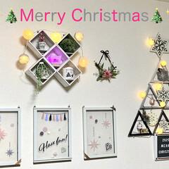 ライトアップ/ウォールステッカー/フォトフレーム/ウッドボックス/クリスマス/インテリア/... ✨🎄Merry  Christmas🎄✨…