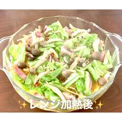 レンジ調理/レンチン/春野菜/ペペロンチーノ/パスタ/おうちごはん/... 🍴ベーコンと春野菜のペペロンチーノ🍴  …(3枚目)
