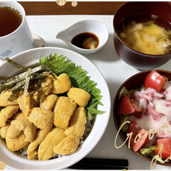 感謝/ウニ丼/メロン 先日、私の実家から🍈メロン🍈が届きました…(4枚目)