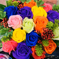 アレンジメント/薔薇 色とりどりの🌹薔薇🌹に魅了されました🥰