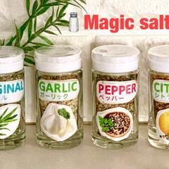 調味料入れ/ダイソー/Magic salt/キッチン収納/キッチン雑貨/おうちごはん/... 🧂Magic salt🧂  ダイソーで4…
