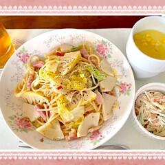 旬/春/春キャベツ/タケノコ/時短レシピ/簡単/... 🍝今日のランチ🍝  昨日は和だったから、…(2枚目)