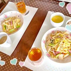 旬/春/春キャベツ/タケノコ/時短レシピ/簡単/... 🍝今日のランチ🍝  昨日は和だったから、…(4枚目)
