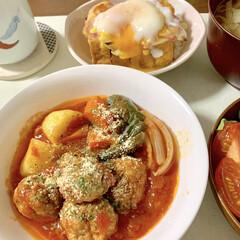 ミートボール/厚揚げ/トースター/レンチン/時短レシピ/簡単/... 🍚昨日の晩ご飯🍚  ②包丁不要!レンジで…