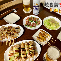 ビール/焼き鳥/おうち飲み 🍺GWおうち飲み🍺  帰省予定も全てやめ…
