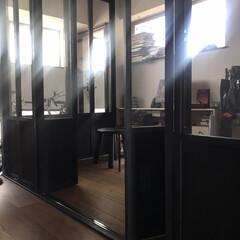 間取り/インテリア/わが家/LIMIAインテリア部/暮らし/住まい/... ここはコーナーの折れ戸をフルオープンにで…