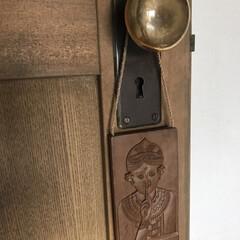 アンティーク/古いもの/真鍮/ドアノブ/インテリア/住まい/... 廊下からリビングに入る扉のノブ  古いも…