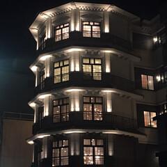 ラッキー/日常のふとしたこと/建築/夜景 ちょっぴり遠回りしたら…  素敵なライト…