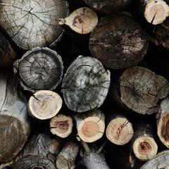 薪/素材/日常のふとしたこと 薪の集合体  この時期は暖炉のある生活に…