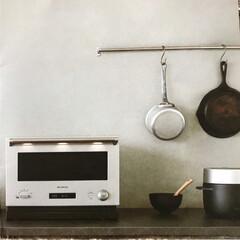 "BALMUDA/家電/お気に入り/うれしいこと/日常のふとしたこと/オーブンレンジ 我が家に新しい家電""BALMUDA Th…"