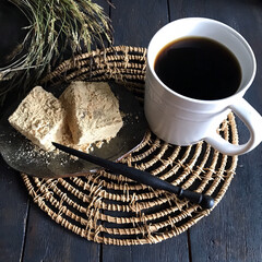 きな粉/わらび餅/コーヒータイム/暮らし 今日は月に一度の縁日 道ひとつ隣が参道な…