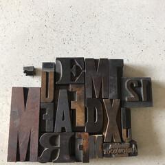 スタンプ/アンティーク/古道具/雑貨/インテリア/わたしのお気に入り 古いプリンター用の活字ブロック  大小様…