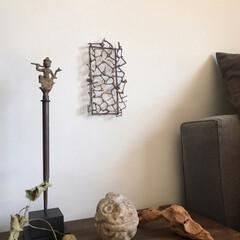 アート/アーティスティック/新しいもの/古いもの/素材/我が家のテーブル/... ちょっぴりいつものディスプレイに変化を……