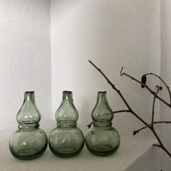 古道具/骨董市/ガラス瓶/ひょうたん/お気に入り/雑貨/... GW帰省した際お祭りの傍らでやっていた骨…(1枚目)
