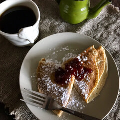 コーヒー/LIMIAごはんクラブ/わたしのごはん/グルメ/フード/スイーツ/... お家ランチ IKEAの冷凍パンケーキ&リ…