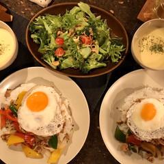 美味しい/タイ/ガパオライス/夕食/おうちごはん/簡単/... 今日の夕食はスタミナ満点、ガパオライス‼…