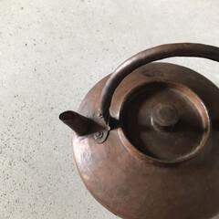 銅のやかん/500円玉貯金/旅の思い出の品/収納/暮らし 随分前に行った旅先で出会った銅のやかん。…