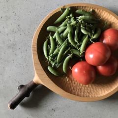 頂きモノ/お裾分け/スナップえんどう/トマト/美味しい/畑/... 太陽の恵みをたくさん浴びたお野菜^ - …